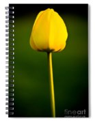 Closed Yellow Flower Spiral Notebook