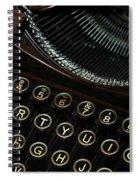 Closeup Of Antique Typewriter Spiral Notebook