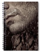 Closeup Of Mans Chin With Stubble Spiral Notebook