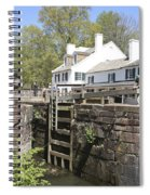 Closing A Lock On The C And O Canal At Great Falls Tavern Spiral Notebook