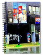 Closing Time Montreal Factory Glatts Produits Quebec Meats Graffiti Art City Scenes Carole Spandau Spiral Notebook