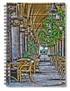 Cloth Hall Cafe In Krakow Spiral Notebook