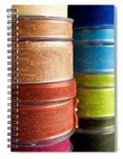 Cloth Ribbons Spiral Notebook