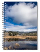 Cloud Above Dry Lagoon Spiral Notebook