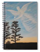 Cloud Angel In Acryics Spiral Notebook