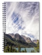 Cloud Formation At Saint Mary Lake Spiral Notebook