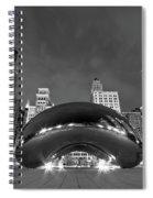 Cloud Gate And Skyline Spiral Notebook
