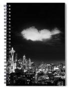 Cloud Over Seattle - Vertical Spiral Notebook