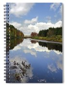 Autumn Lake Reflection Landscape Spiral Notebook