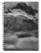 Cloud Smothered Peaks Spiral Notebook