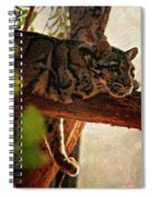 Clouded Leopard II Painted Version Spiral Notebook
