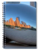 Cloudgate City Spiral Notebook