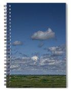 Clouds And Landscape In Alberta Canada Spiral Notebook