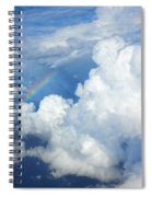 Clouds And Rainbow Spiral Notebook