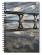 Clouds And Reflections Over Lake Champlain Spiral Notebook