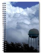 Clouds Around The Water Tower Spiral Notebook