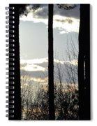 Clouds At Dusk Spiral Notebook