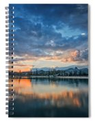 Clouds At Lower Sunset Lake Spiral Notebook
