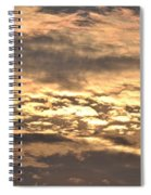 Clouds At Sunset Spiral Notebook