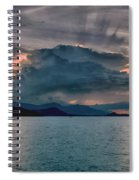 Clouds Explosion Spiral Notebook