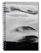 Maui Hawaii Haleakala National Park Clouds In Haleakala Crater II Spiral Notebook