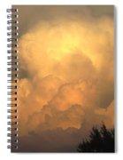 Clouds In The Evening II Spiral Notebook