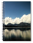 Clouds In The Grand Tetons Spiral Notebook