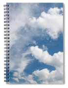 White Cirrus And Cumulus Clouds Formation Mix Spiral Notebook