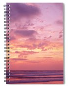 Clouds In The Sky At Sunset, Pacific Spiral Notebook