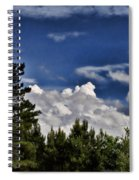 Clouds Like Mountains Behind The Pines Spiral Notebook