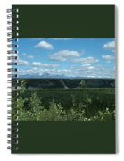 Clouds Mountains And Trees Spiral Notebook
