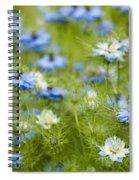 Clouds Of Blue Spiral Notebook