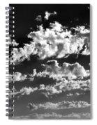 Clouds Of Freycinet Bw Spiral Notebook