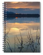 Clouds On The Pink Water Spiral Notebook
