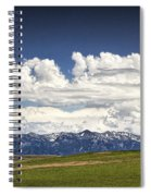 Clouds Over A Mountain Range In Montana Spiral Notebook