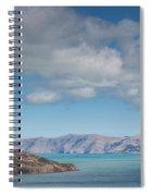 Clouds Over Akaroa Harbor, Akaroa Spiral Notebook