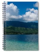 Clouds Over An Island, Hana, Maui Spiral Notebook