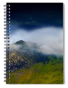Clouds Over Bull Crag And Maiden Moor Spiral Notebook