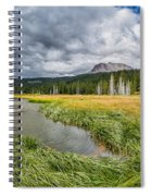 Clouds Over Hat Lake Spiral Notebook