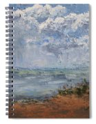 Clouds Over Lake Michigan Spiral Notebook