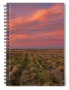 Clouds Over Landscape At Sunset Spiral Notebook
