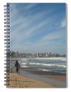 Clouds Over Manly Beach Spiral Notebook