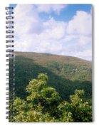 Clouds Over Mountain, Sunset Rock Spiral Notebook
