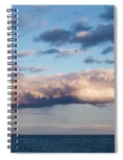 Clouds Over The Atlantic Ocean At Dusk Spiral Notebook