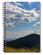 Clouds Over The Mountain Spiral Notebook