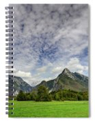Clouds Over The Mountains Spiral Notebook