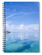 Clouds Over The Ocean, Florida Keys Spiral Notebook