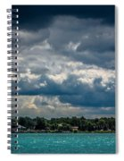 Clouds Over The River Spiral Notebook