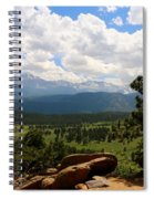 Clouds Over The Rockies Spiral Notebook