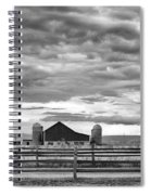 Clouds Over The Upper Midwest Spiral Notebook